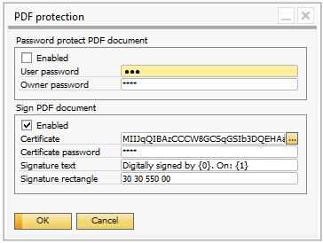 document password protected pdf